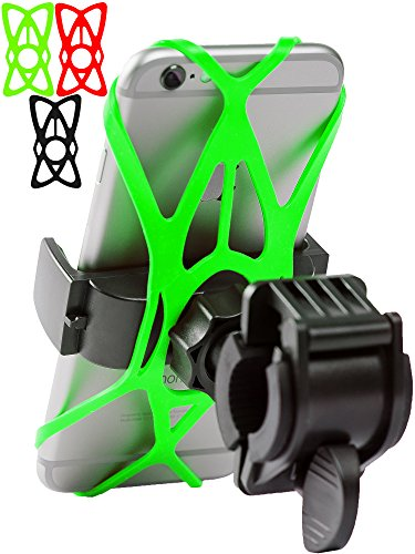 Bike Phone Mount for any Smart Phone: iPhone X 8 7 6 5 plus Samsung Galaxy S9 S8 S7 S7 S6 S5 S4 Edge, Nexus, Nokia, LG. Motorcycle, Bicycle Phone Mount.