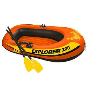 Intex Excursion 4, 4-Person Inflatable Boat Set with
